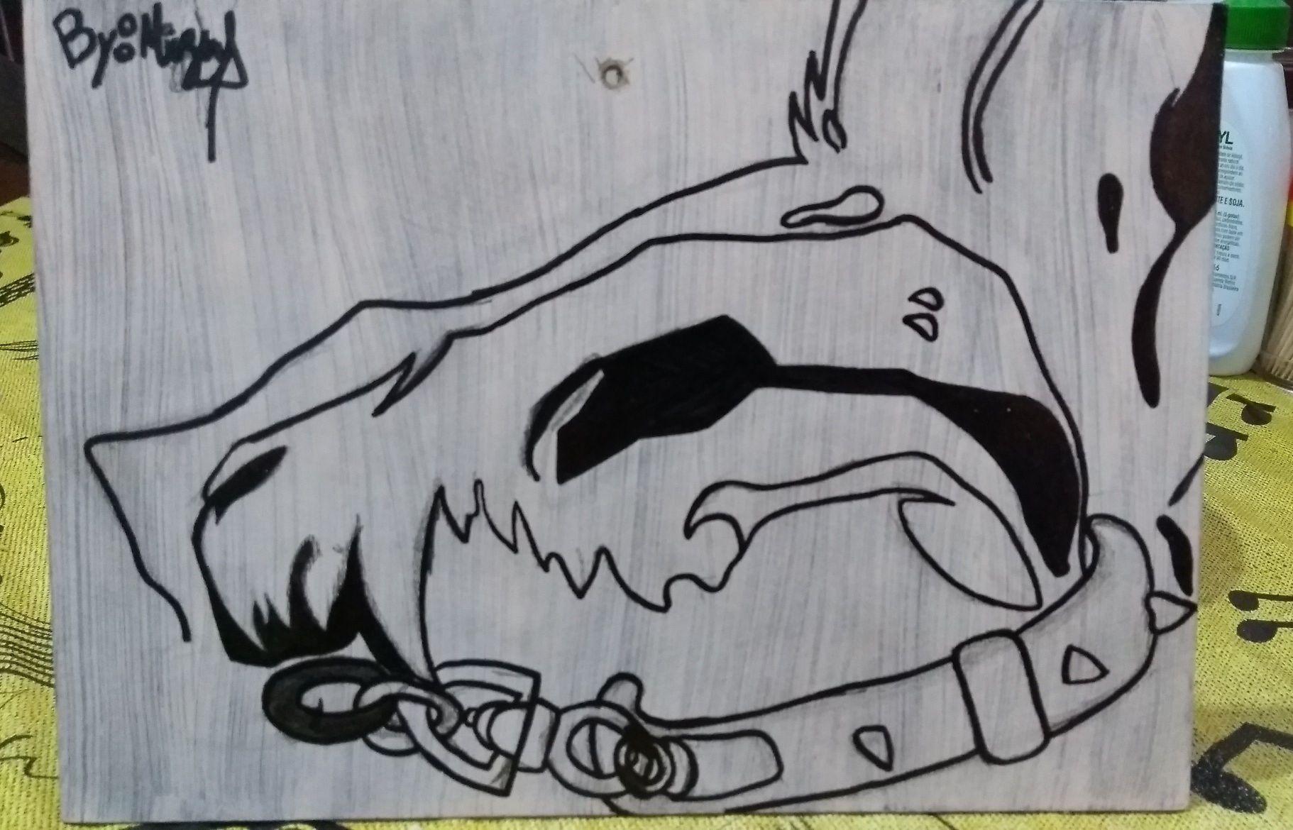 Pintura+ desenho autoral em quadrinho