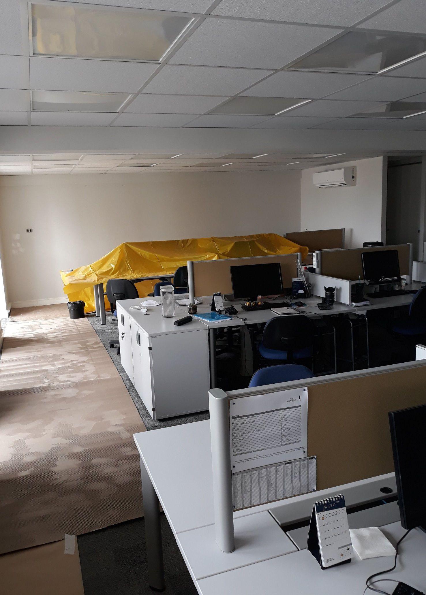 escritório pintura limpeza