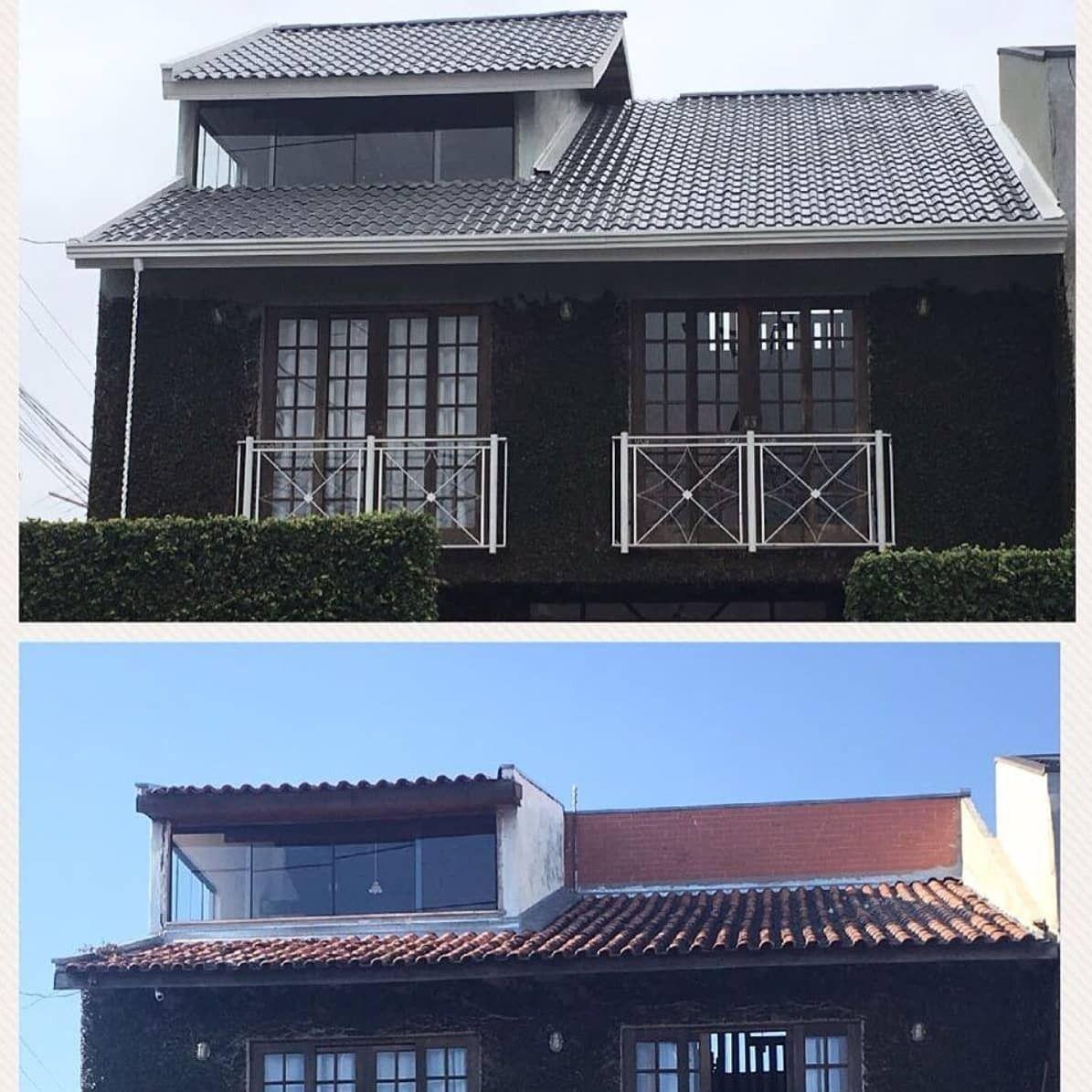 Mudança estética e troca de telhas