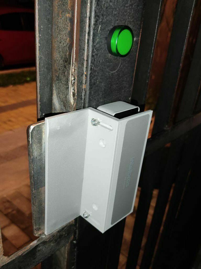 Fechadura eletroímã com indicação de abertura
