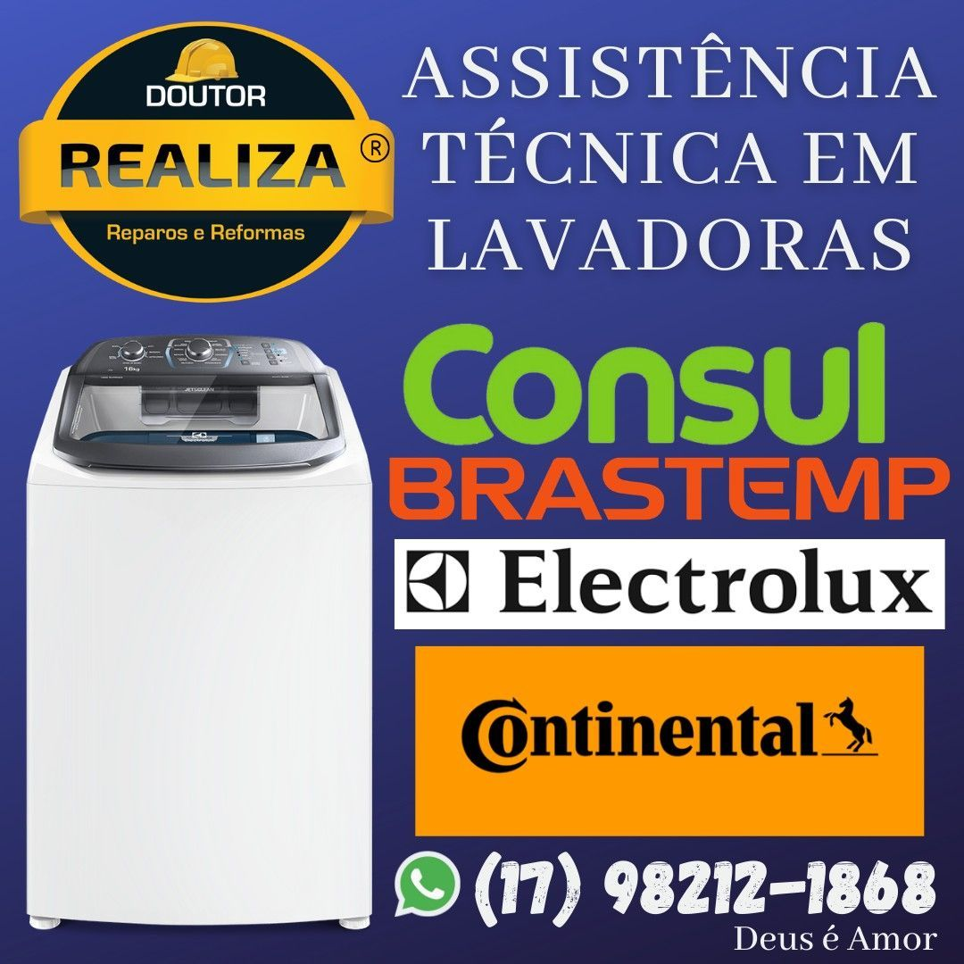 Assistência Técnica em Lavadoras de Roupas.
