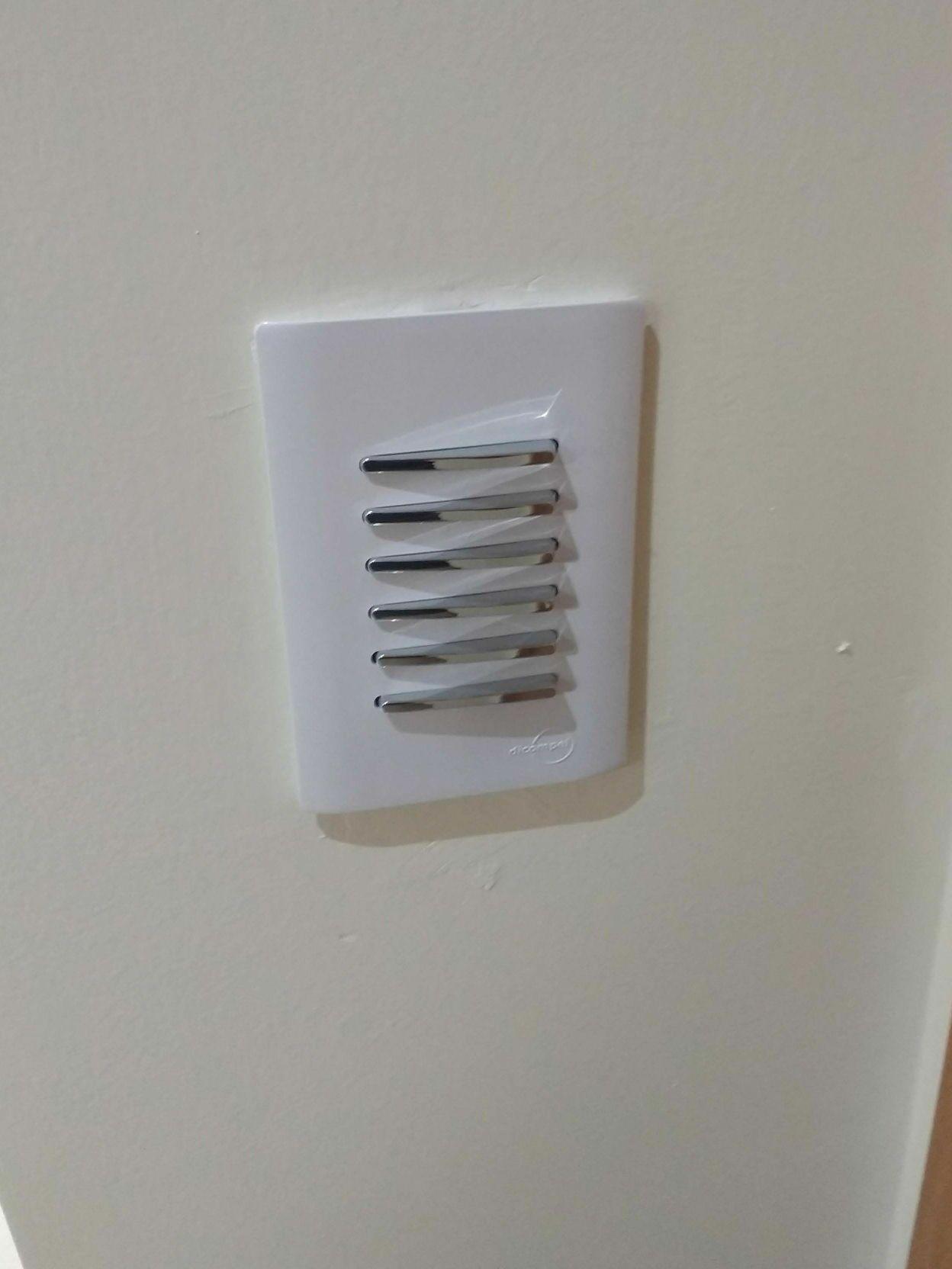 interruptores para acionamento de spots e fita led