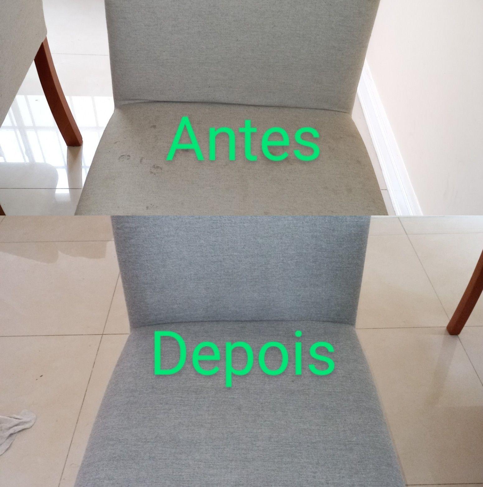 Higienização de 8 Cadeira Estofada