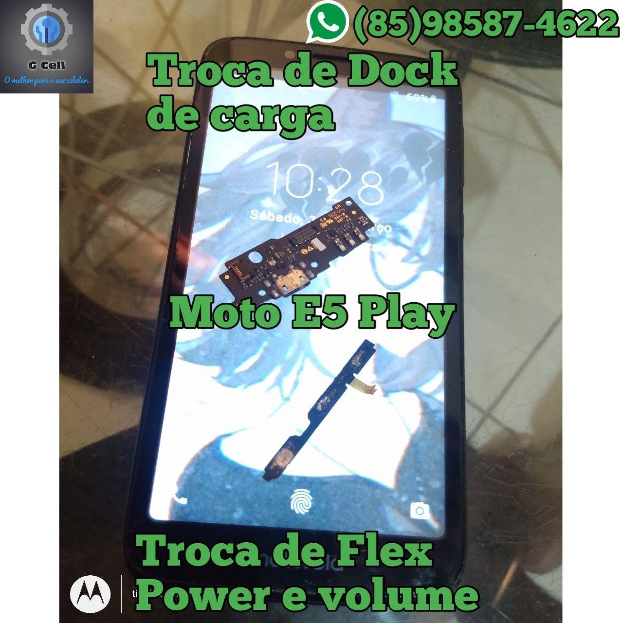 Troca de Dock de carga e flex Power Moto E5 Play