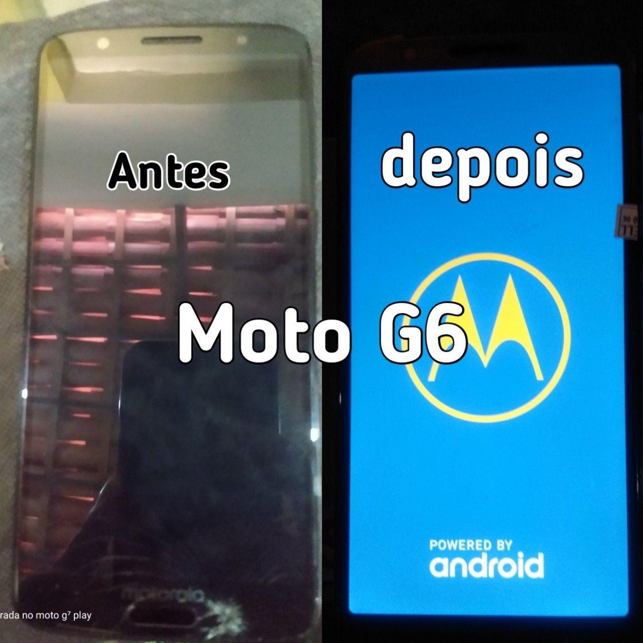 Troca de tela Moto G6