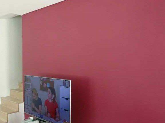 pintura acetinado em parede
