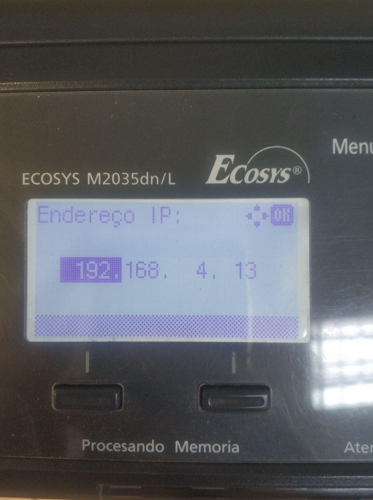configuração impressora Kyocera na rede interna