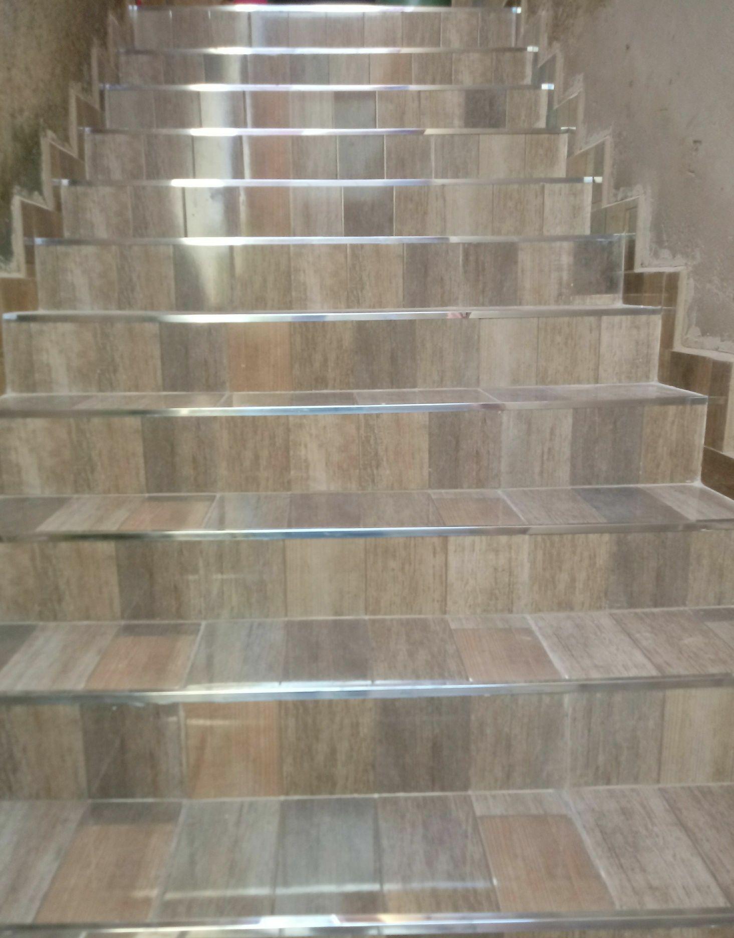 Colocação de piso em escada