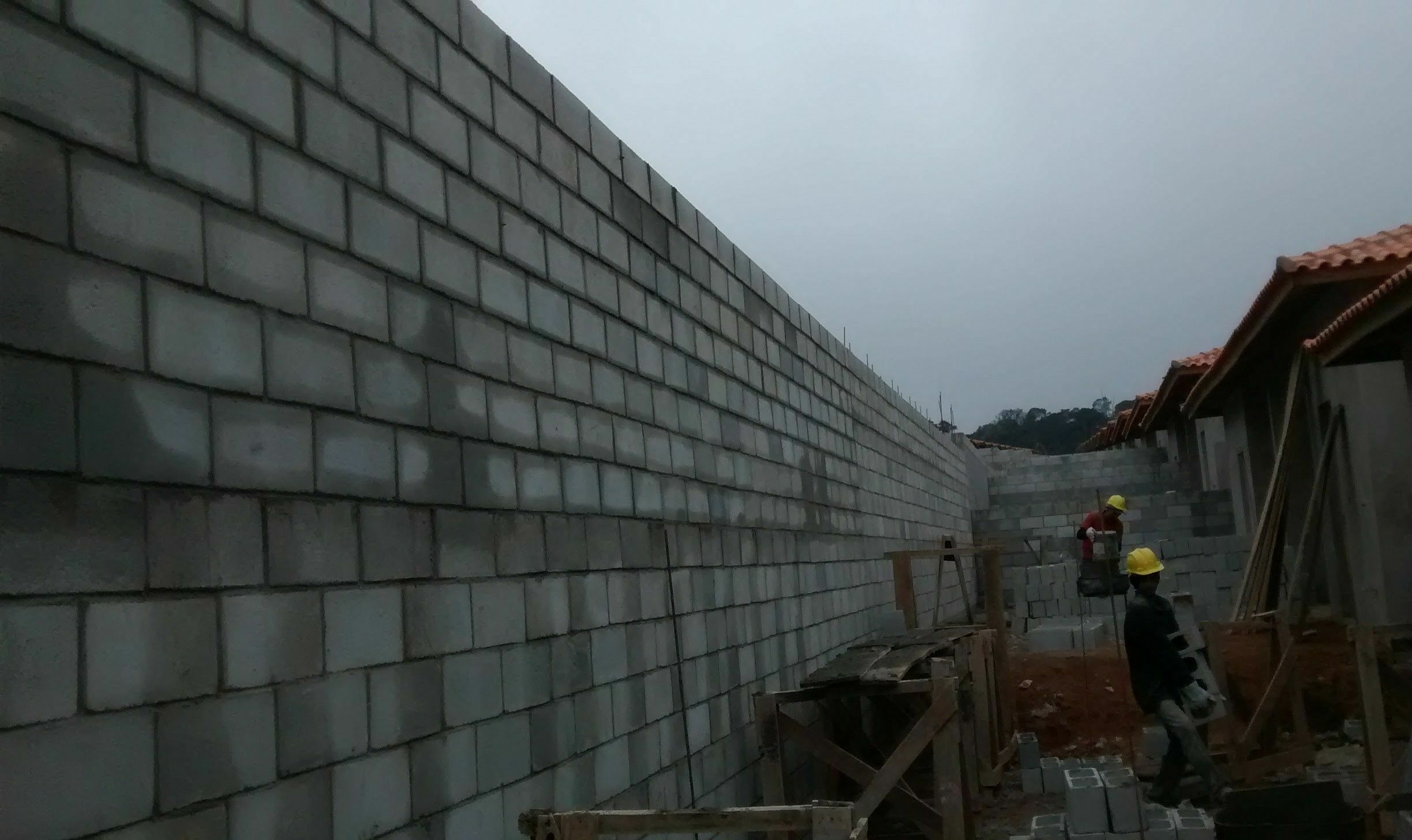 Muro de alvenaria estrutural