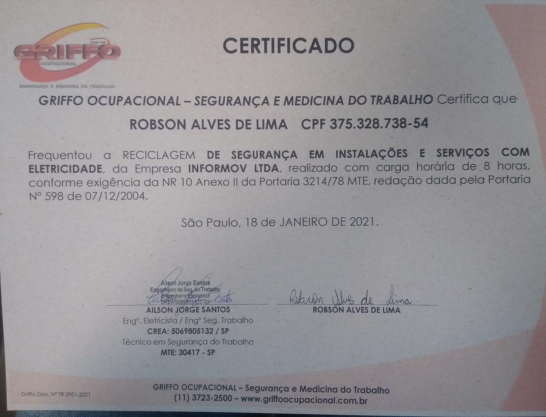 certificado em dia!