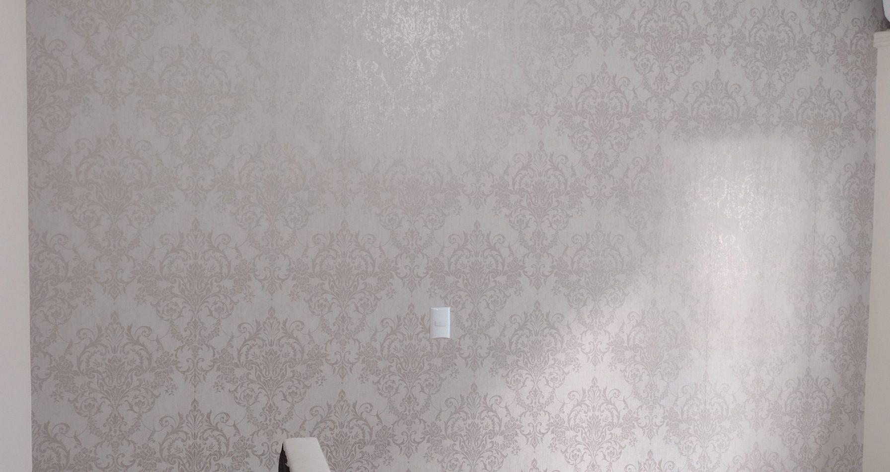 papel de parede em quarto