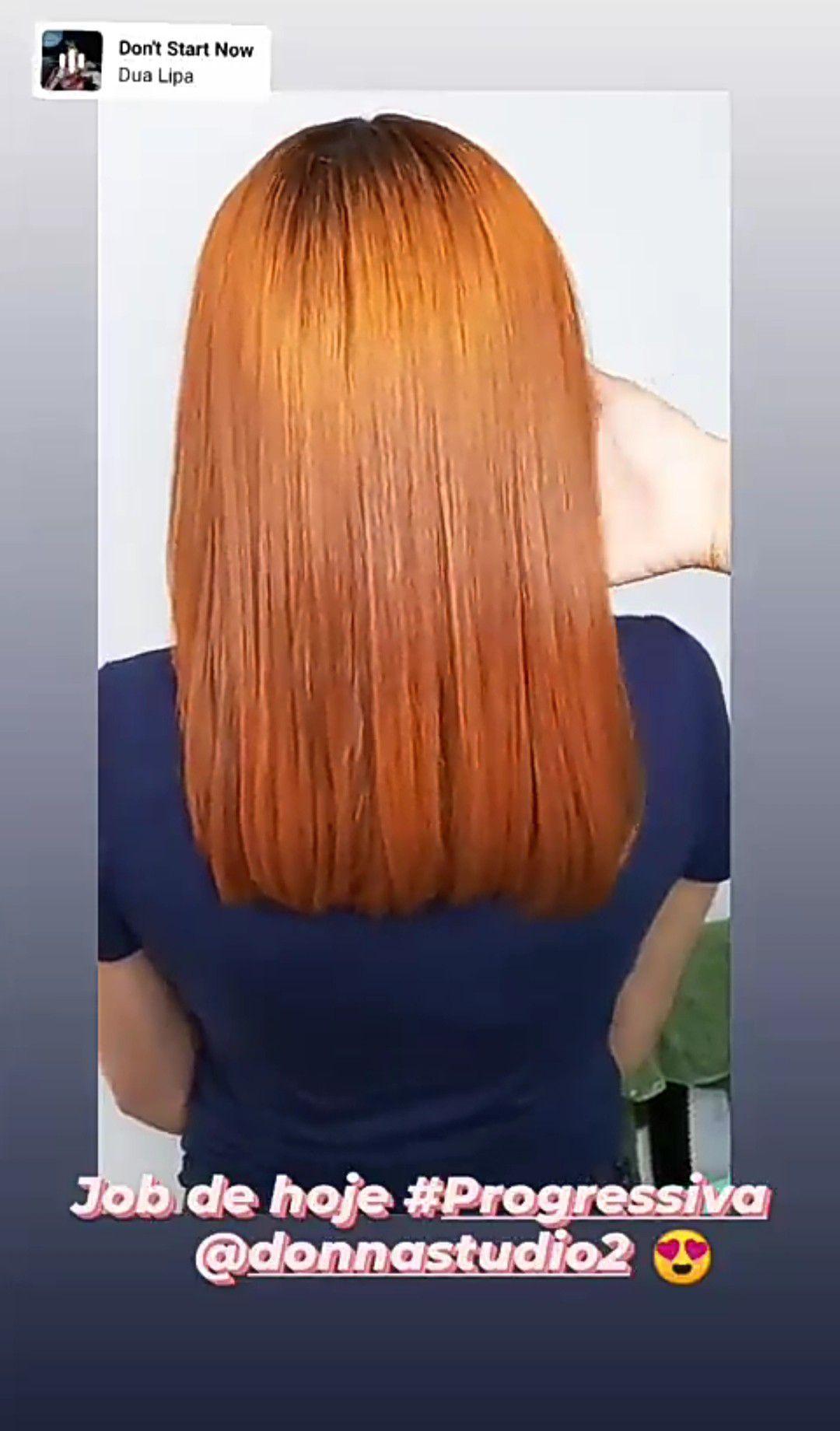 Progressiva em cabelo colorido