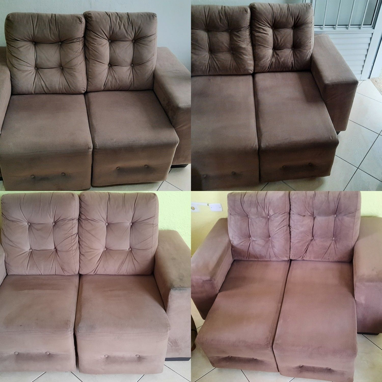 Higienização de sofás .