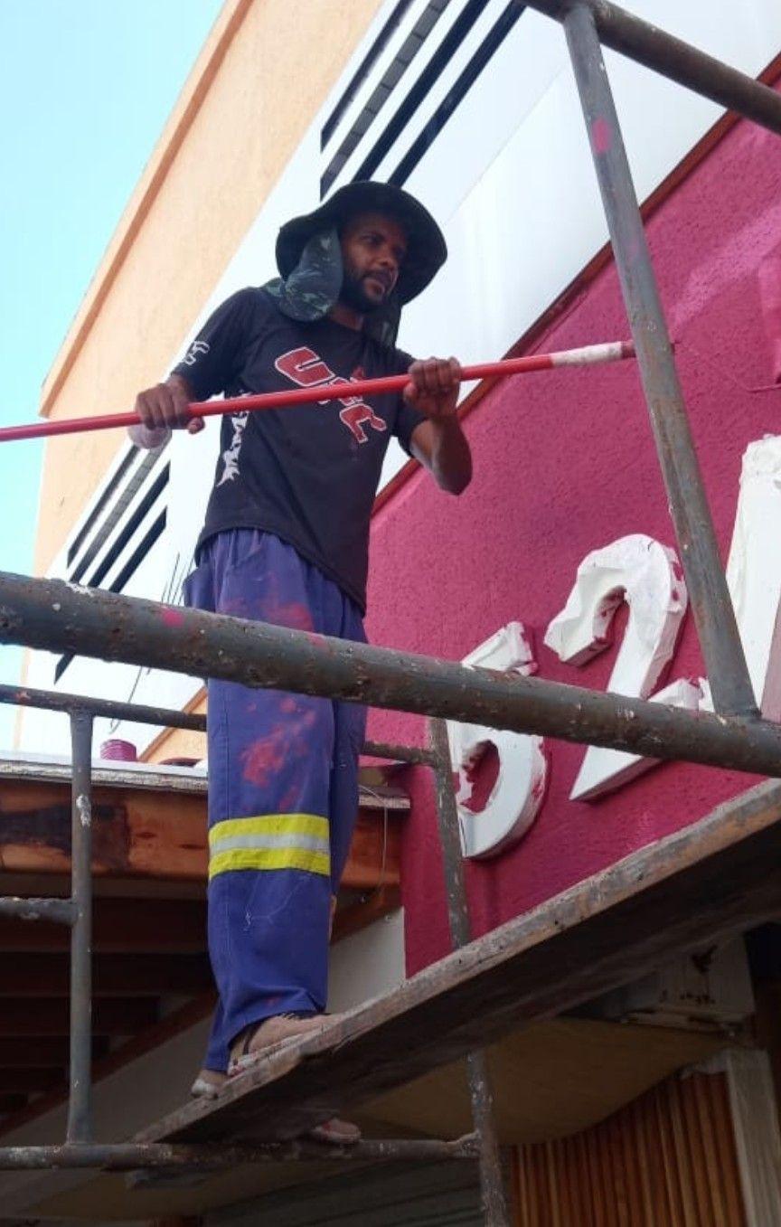 pintura sobrado loja  boqueirao praia grande