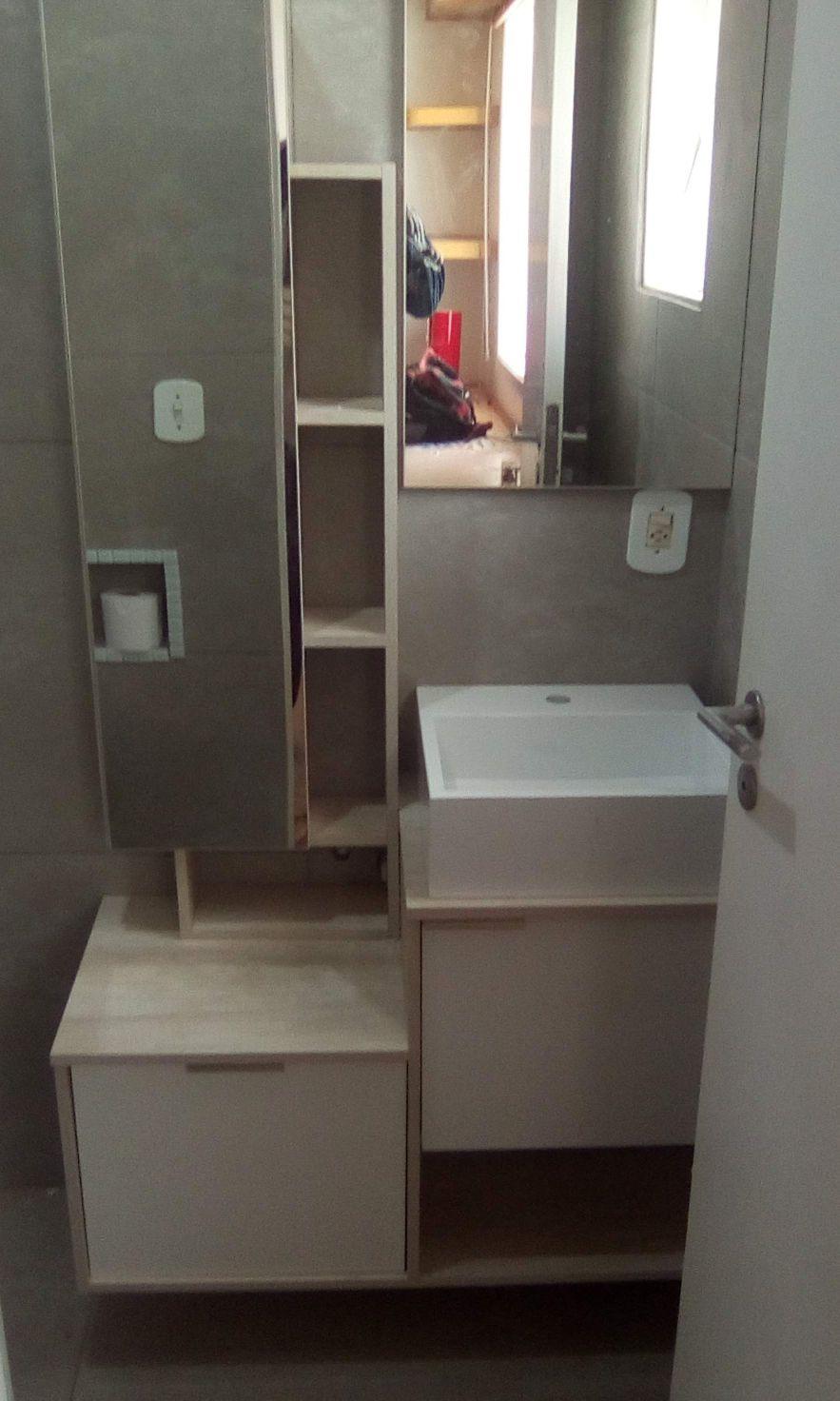 instalação armário banheiro