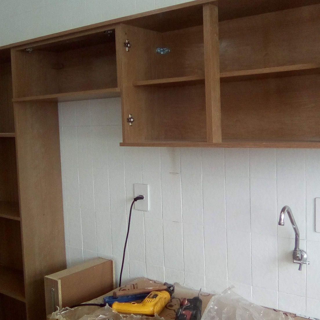 montagem armários de cozinha