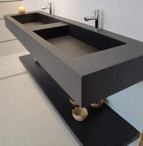Espetáculo de lavatório em Quarzto esculpido show.