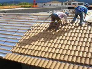 execução de telhado com. manta térmica , excelente