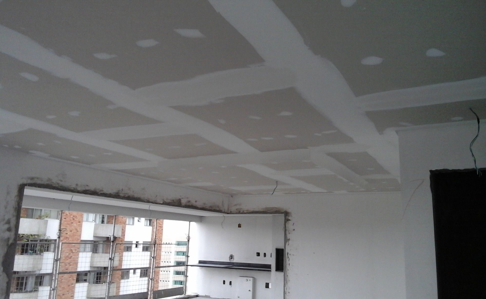 Drywall forro sacada