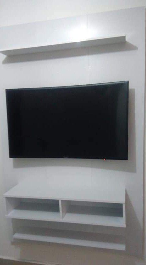 instalação de suporte e TV em painel