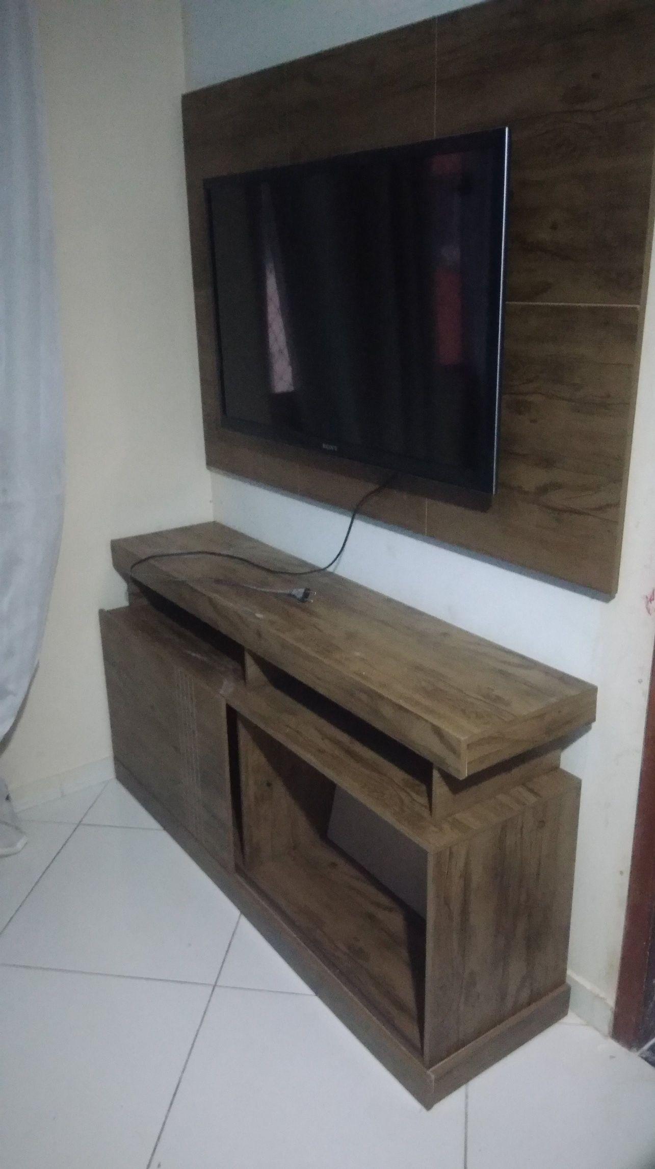montagem de rack + painel com instalação de tv