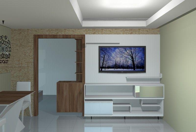 painel para sala com TV 50