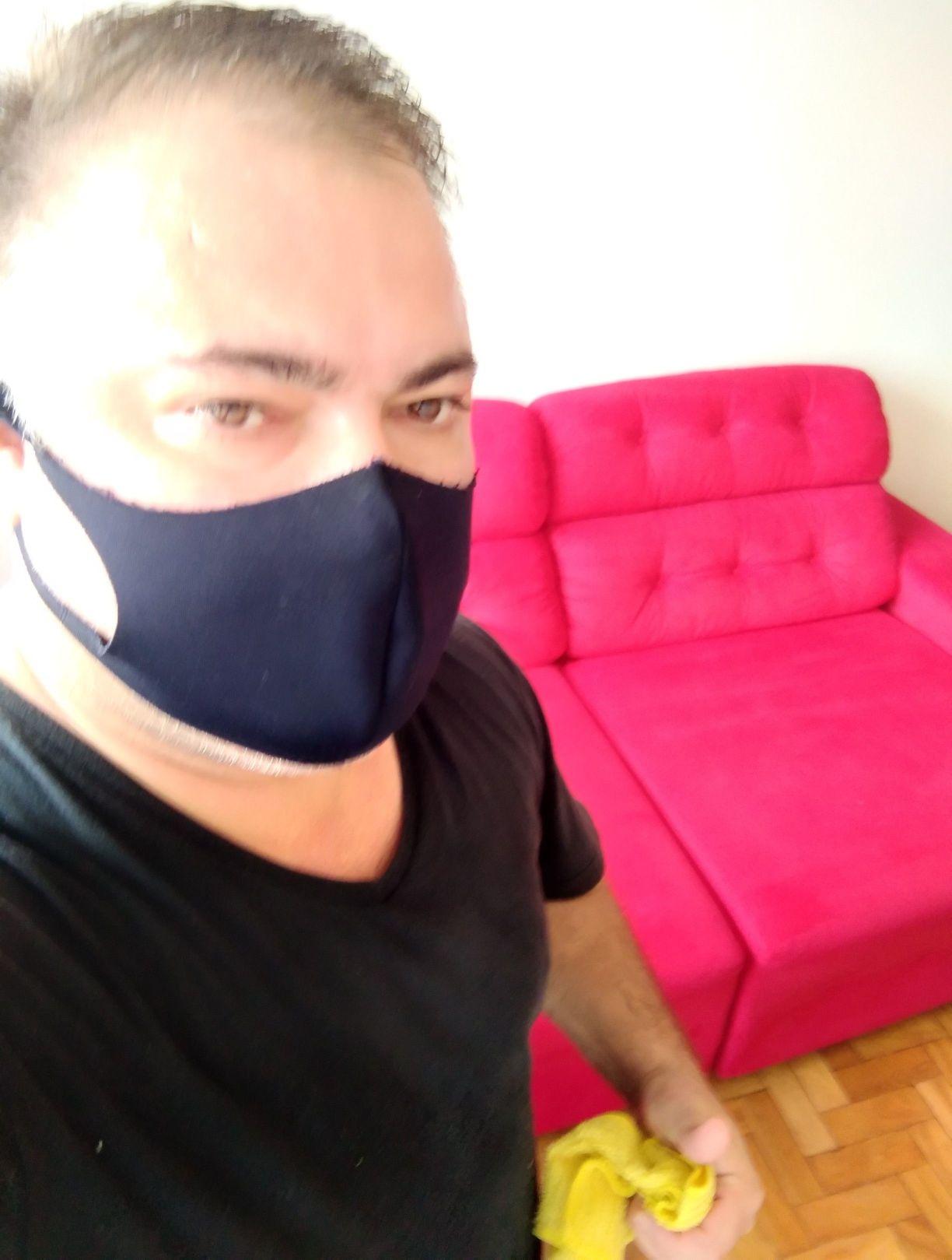 Higienização sofá retratil.