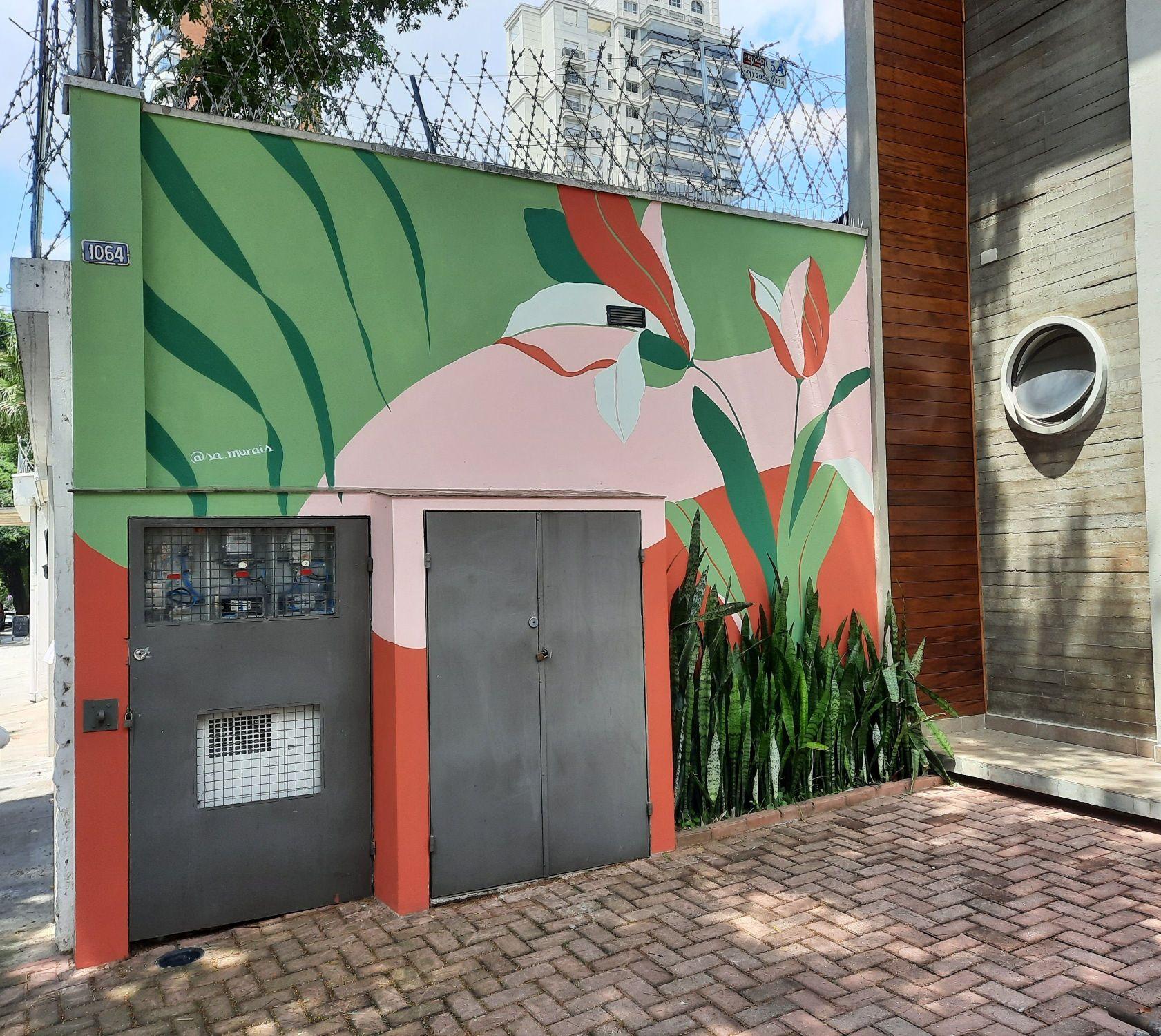 Pintura fachada de loja de roupas feminas