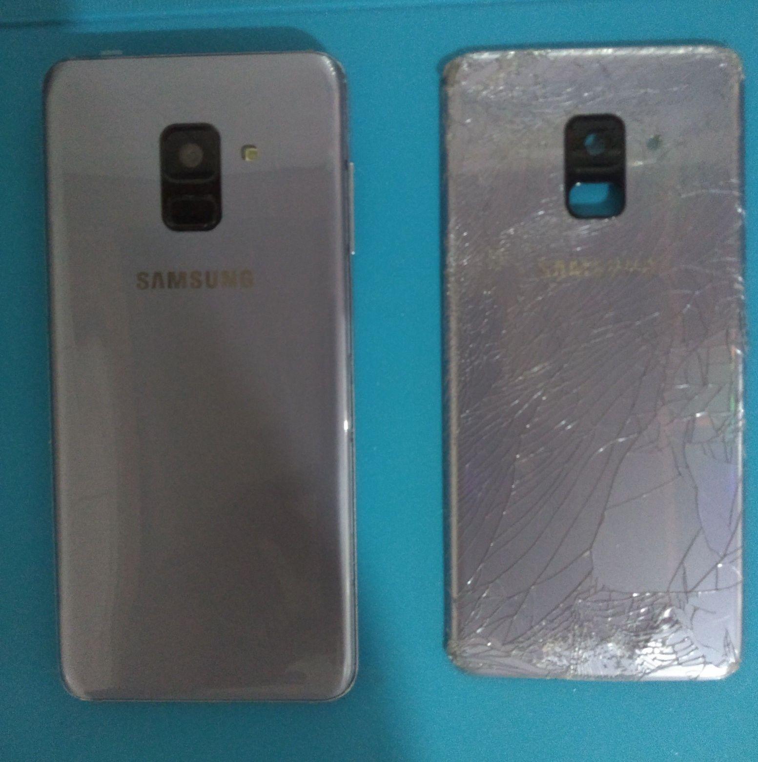 troca de tampa traseira Samsung A8