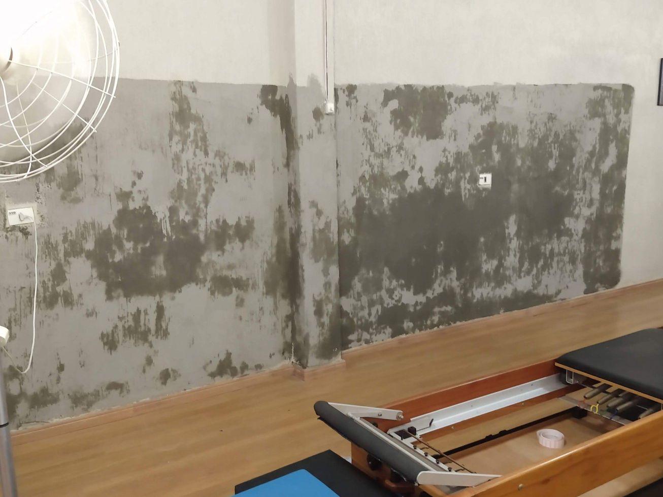 tratamento em parede úmida