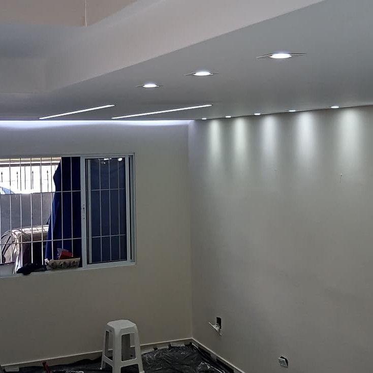 forro em drywall com iluminação em led