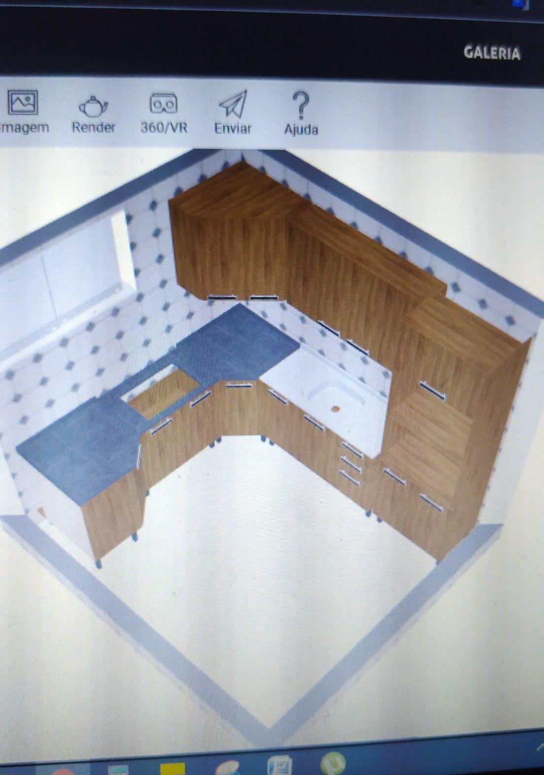projeto de cozinha modular