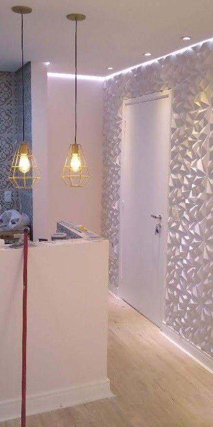 execução de gesso 3D iluminação e pintura