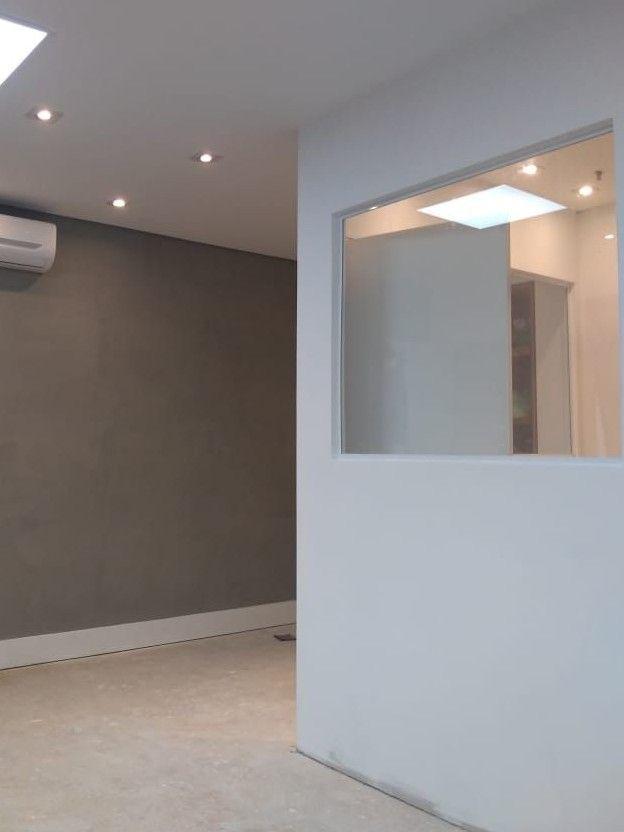 execução de drywall vidro iluminação pintura etc