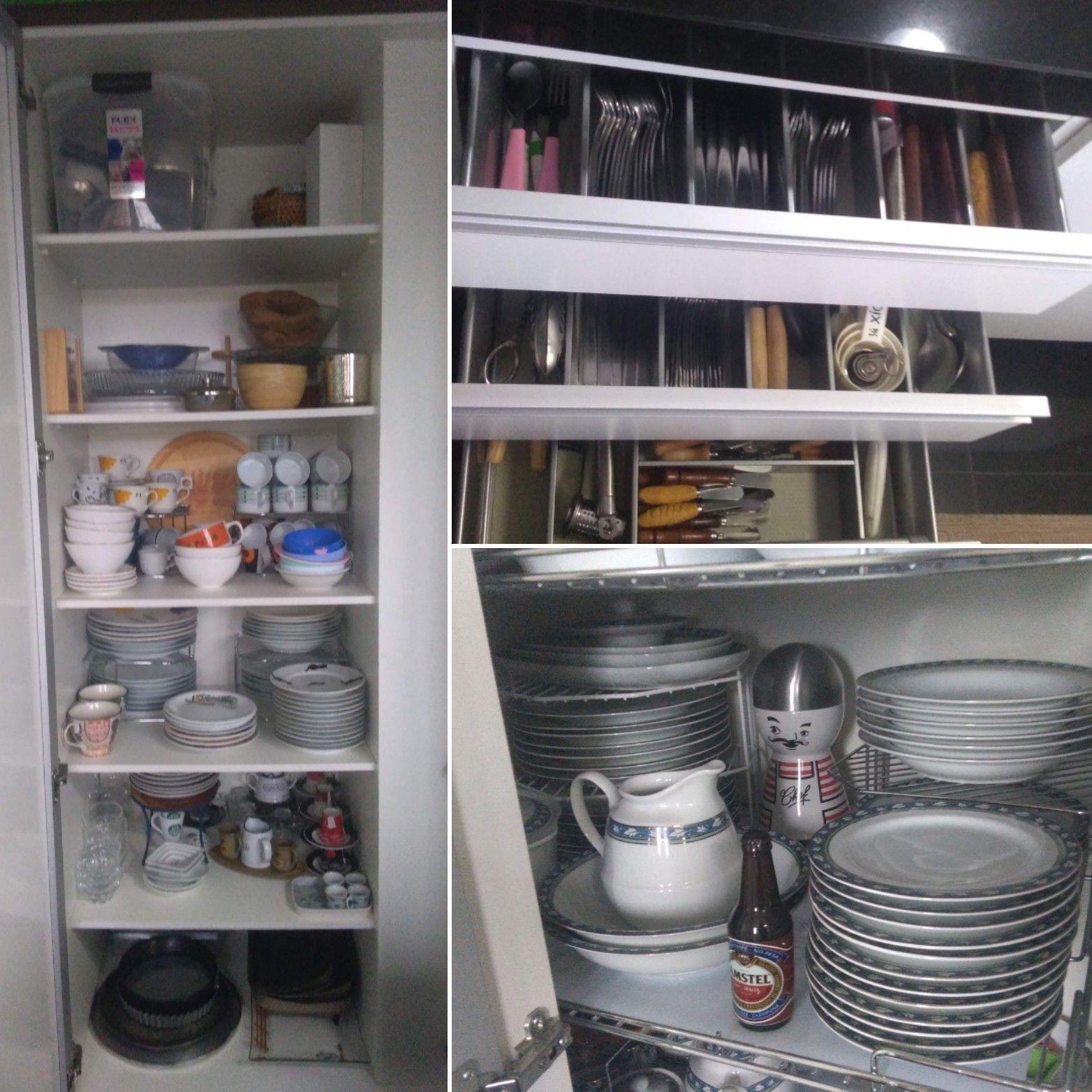 Organização de cozinha.