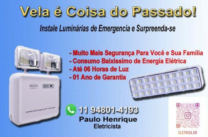 Banner de Instalação de Luminária de Emergência