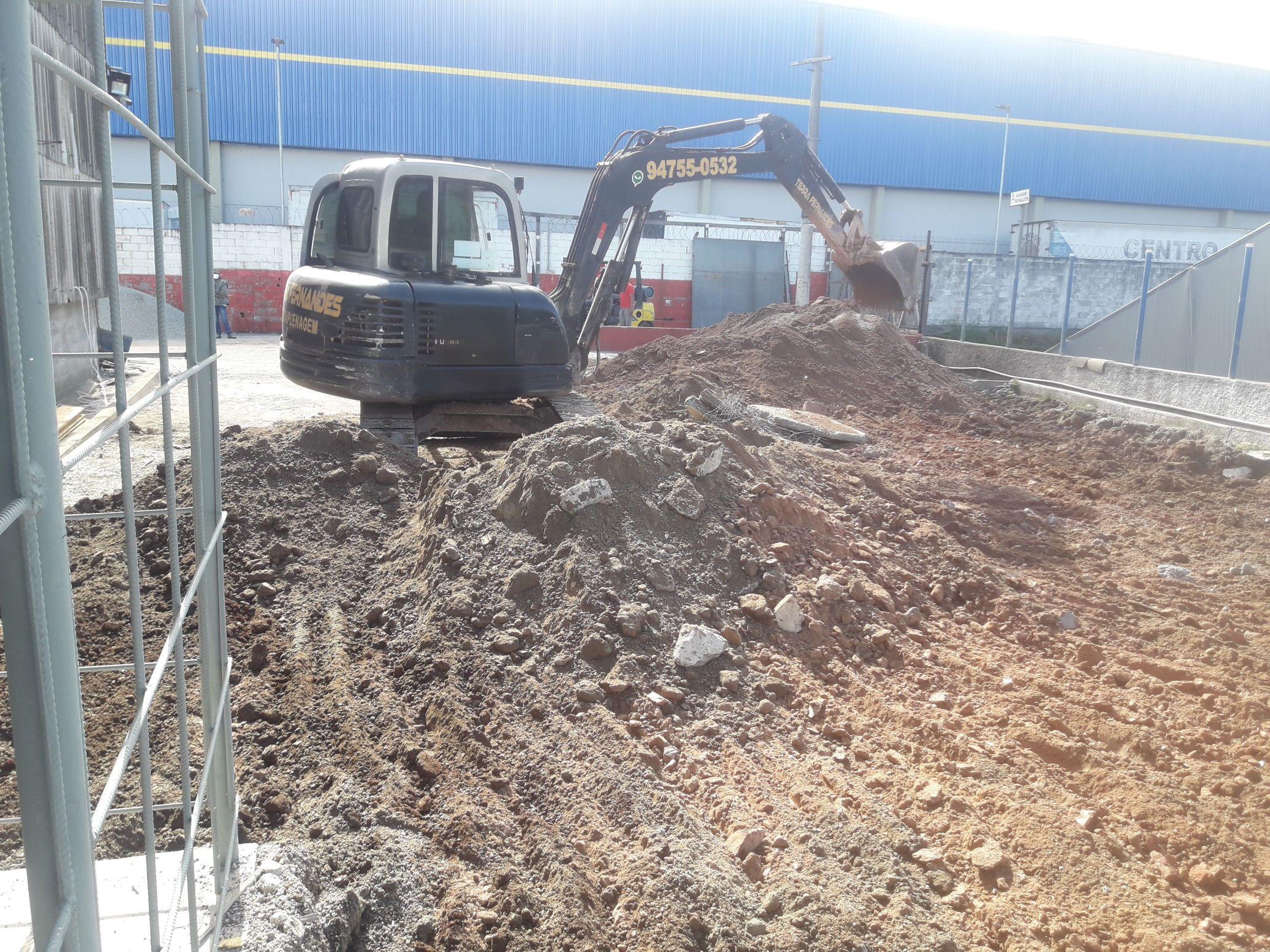 demolição fabrica terrinha de tapioca