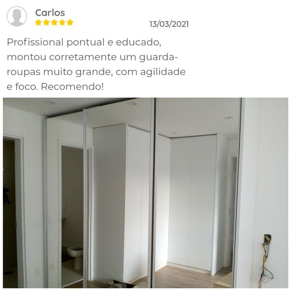 guarda roupa com portas de espelho