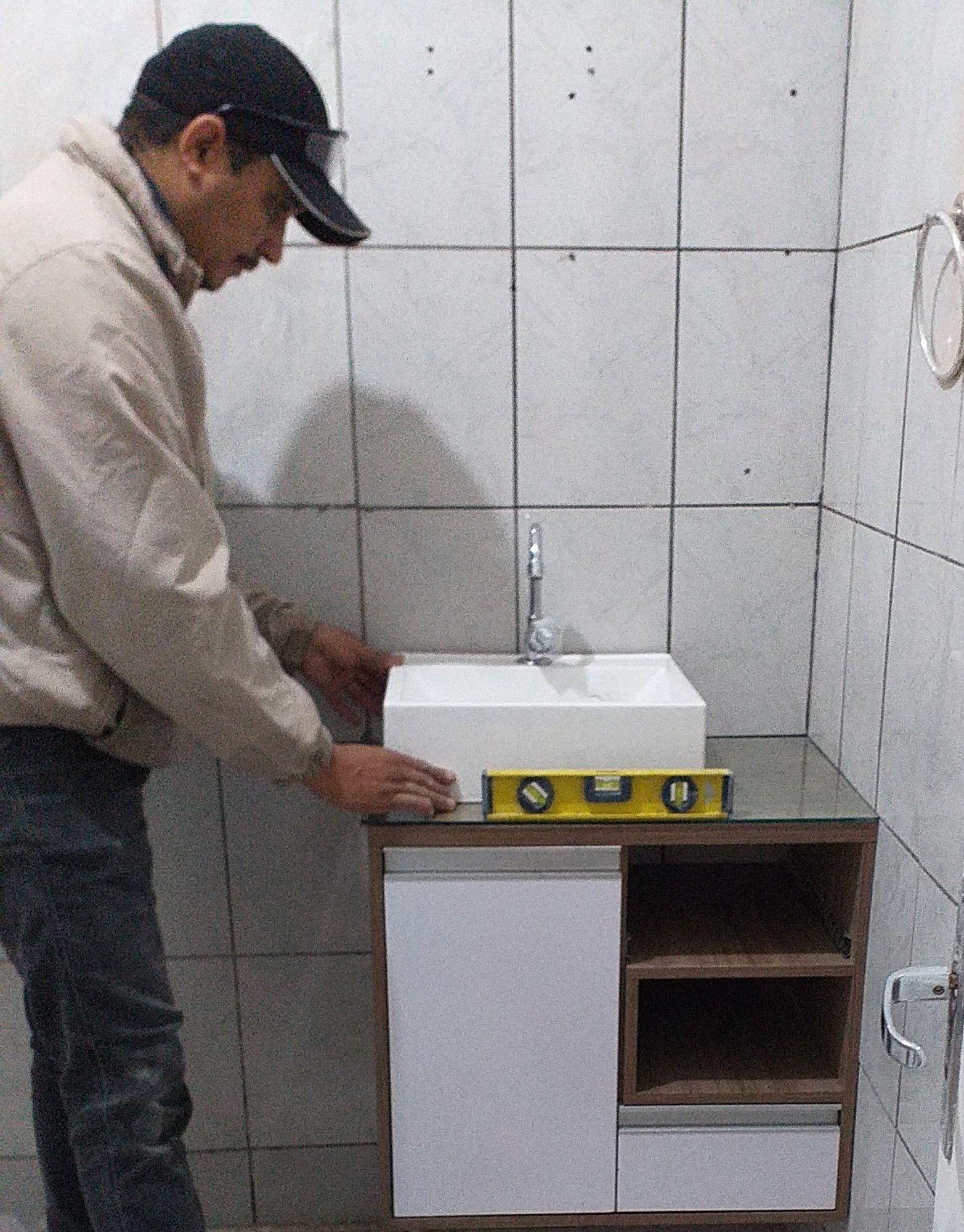 troca do lavatório