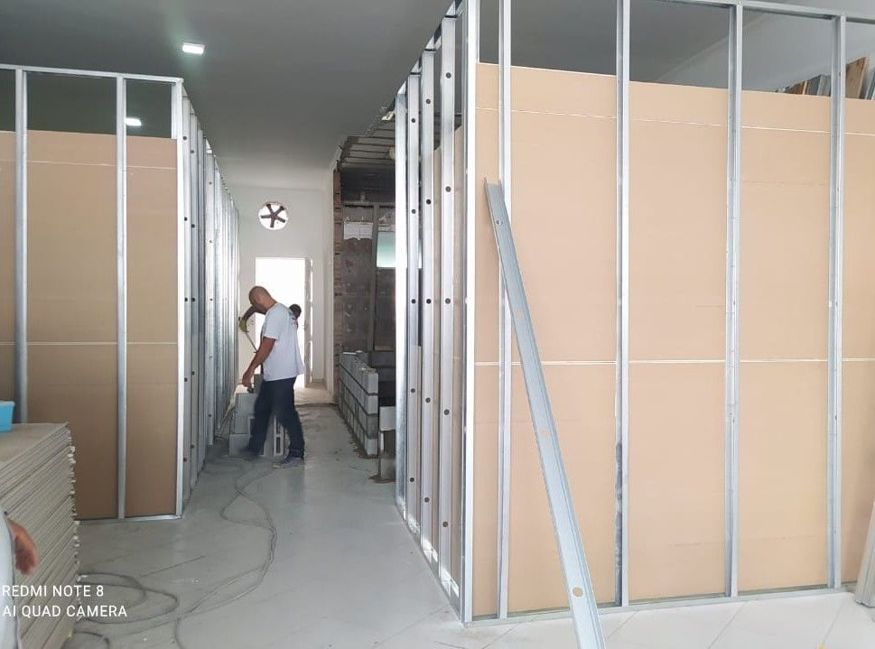 execução de drywall