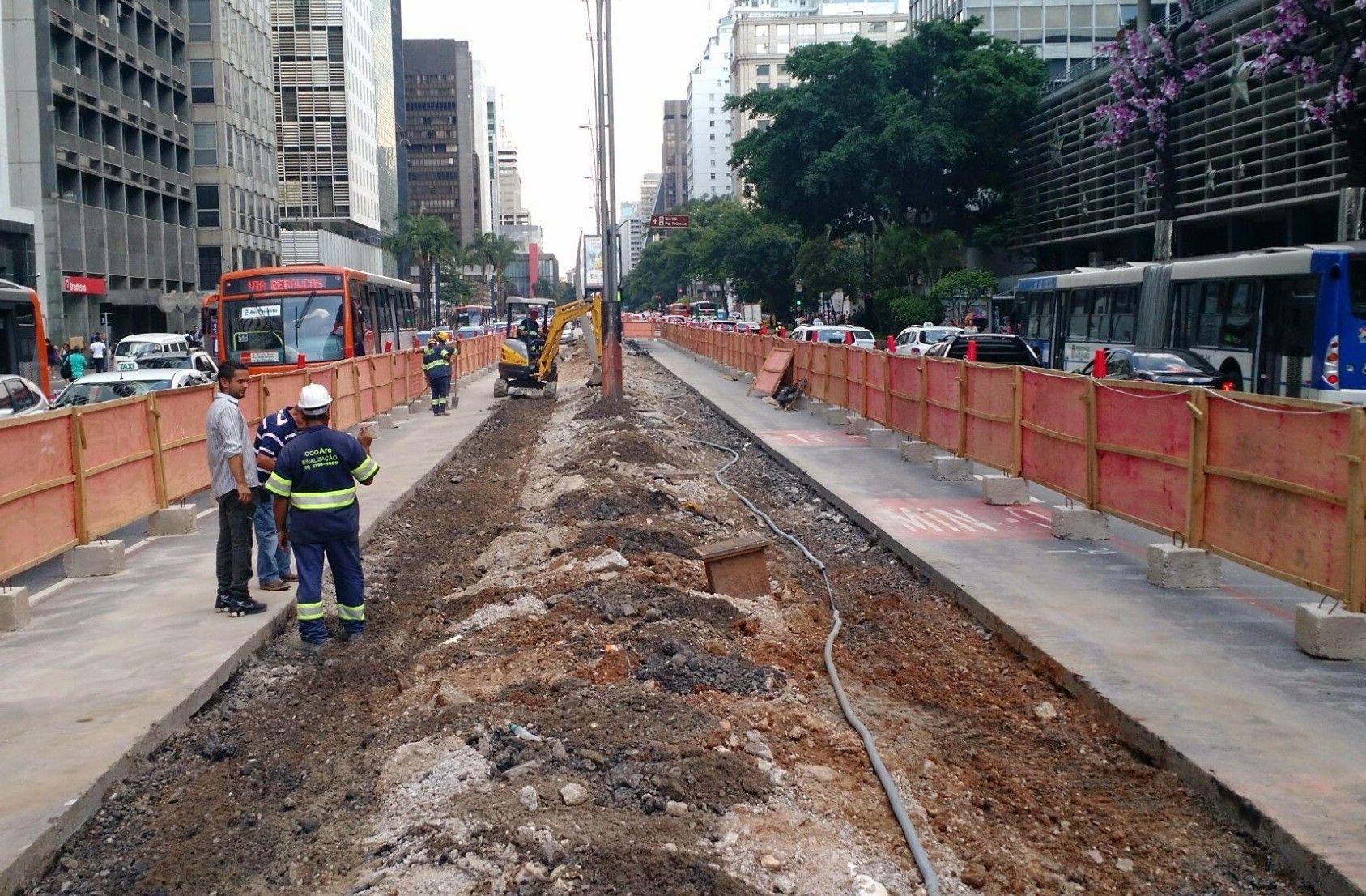 alargamento viário para Ciclovia da Paulista