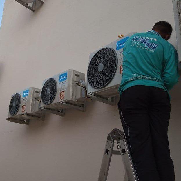 Condensadoras instaladas