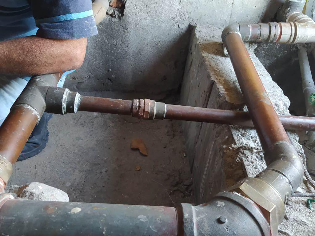 reparos em tubucao de cobre