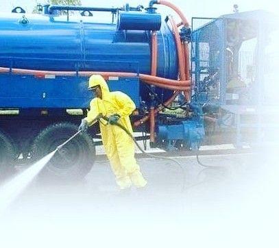hidrojateamento alta pressão em encanamento
