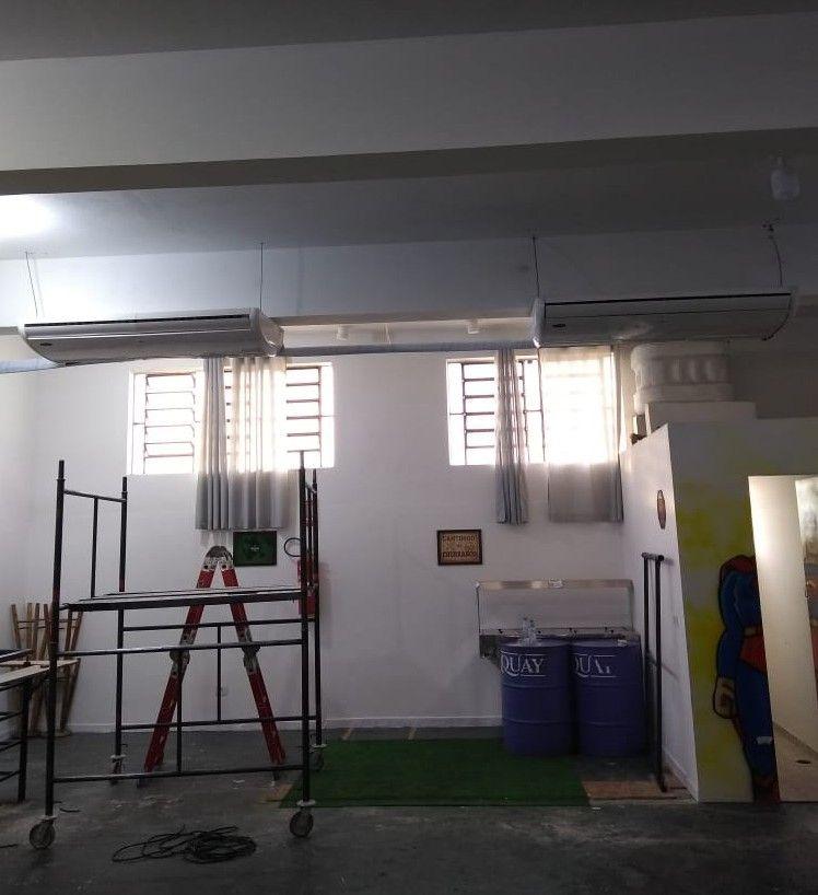montagem de ar condicionado piso teto