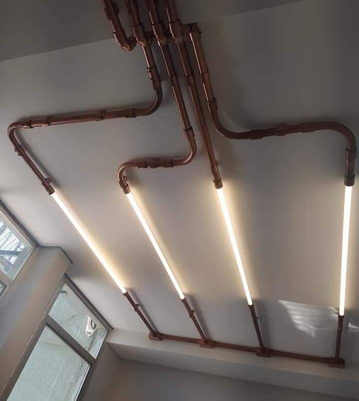 Infra aparente para lâmpadas LED