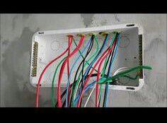 Passagem dos circuitos para quadro elétrico