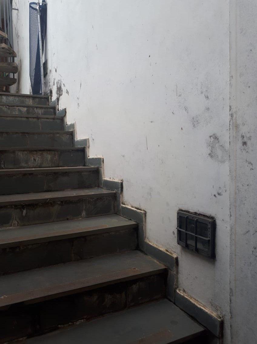 escada após enchimento