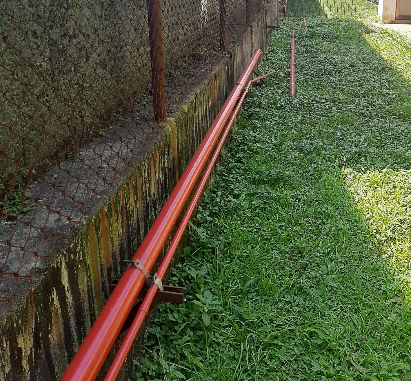 instalação da rede de hidrante.