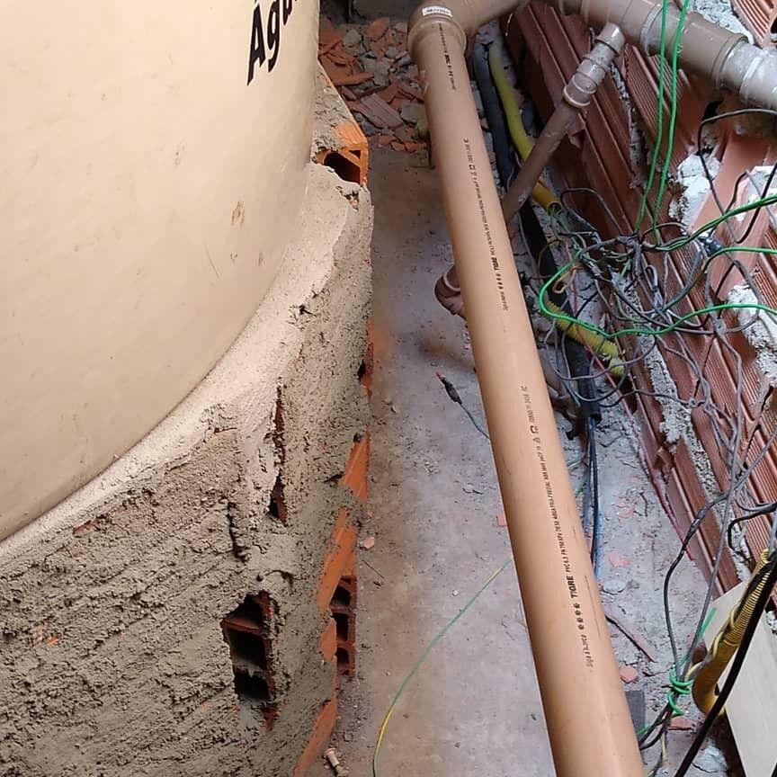 instalação de caixa d'água